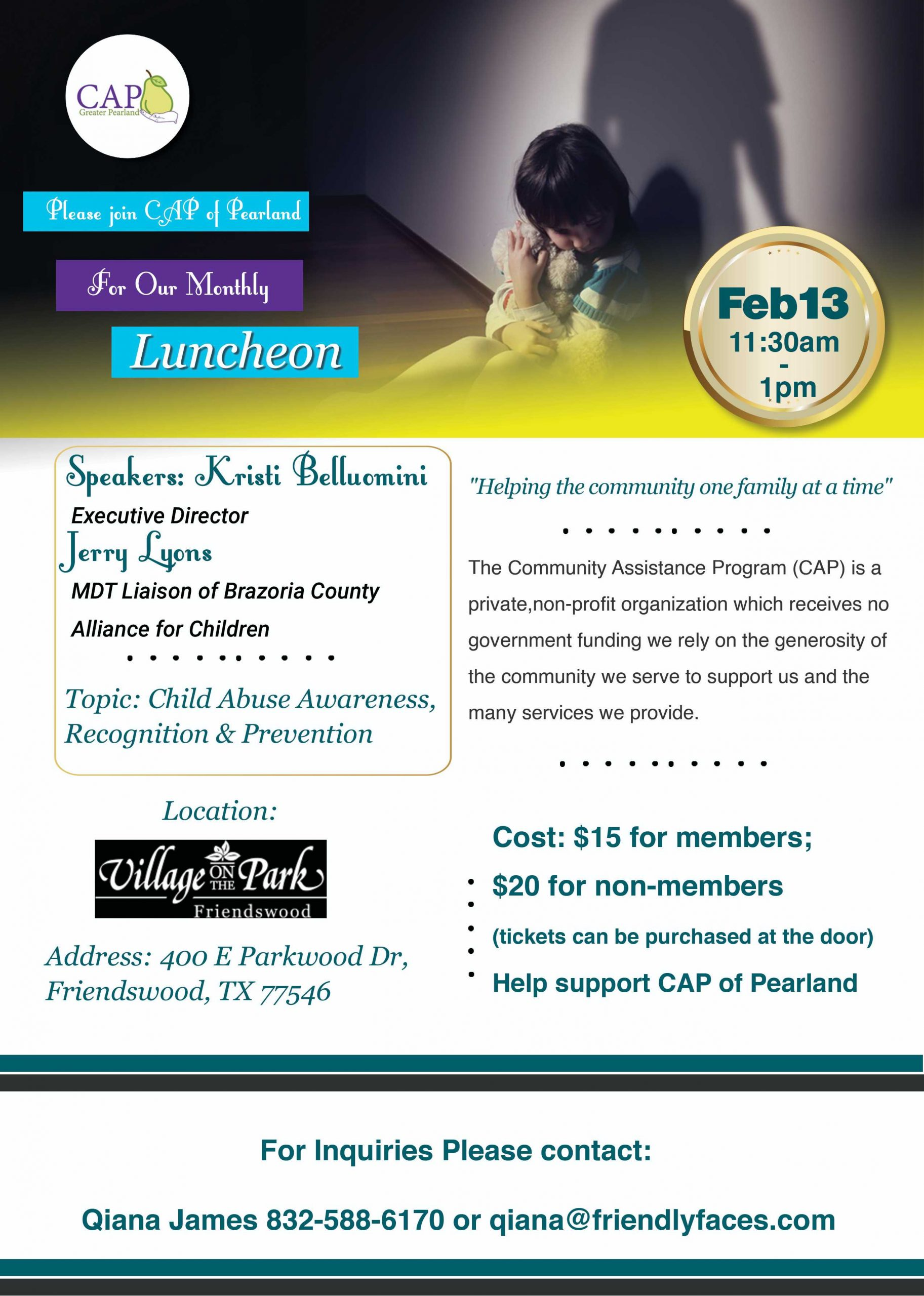 February General Membership Luncheon @ Village on the Park Friendswood